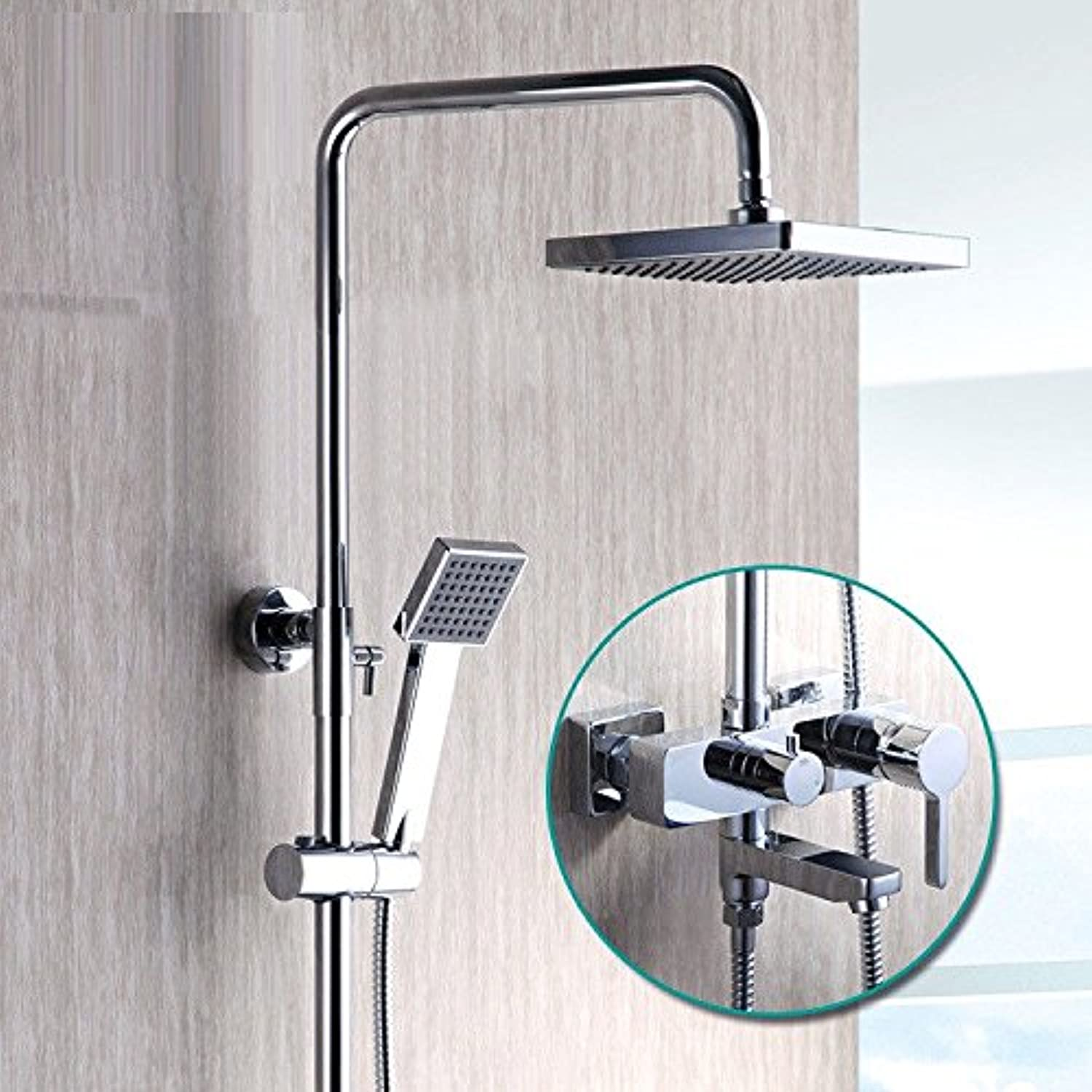 Gyps Faucet Basin Mixer Tap Waterfall Faucet Antique Bathroom Mixer Bar Mixer Shower Set Tap antique bathroom faucet Shower faucets packaged full copper heated-Booster bath shower kit to lift the hot