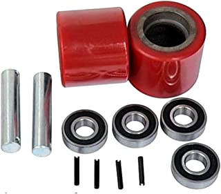 Pallet Jack Replacement Load Wheels Kit with 20mm Bearings 3-9/16