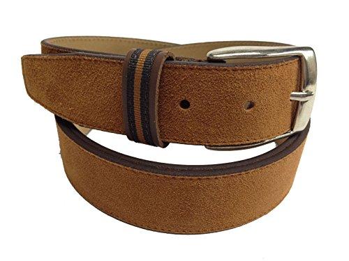 YOJAN PIEL | Cinturón de PIEL Ante Cinturón Sport Cómodo y Ajustable Estilo Clásico con Hebilla | Ajustable a su Medida | Elegante Para Vestir en Bodas y Eventos Formales