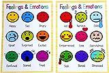 A4 Kinder-Poster Gefühle Emotionen Pädagogisches Kinderzimmer SEN Kinder Kinder Kinder Kinder Kinder Kinder Kinder -