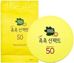 Green Finger Kids Sunscreen Facial Cushion Pact, Aloe,Baobao, Moringa, Children Sun Protection SPF50+(Product+Refill) 16g