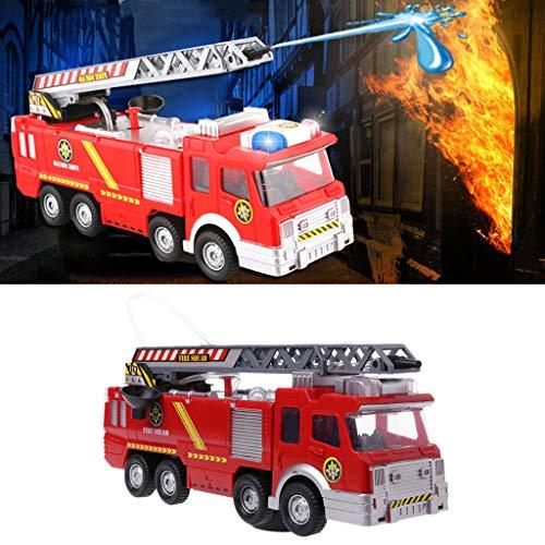 SimpleLife Camión de Bomberos Juguete Camión de Bomberos Coche de Rescate Vehículo Escalera Extensible con música Luces Autos Construcción de Juguetes para niños Niños de 3 a 5 años de Edad
