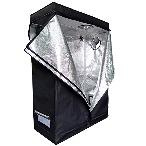 MallMall High-Refective Environment Hydroponic Indoor Grow Tent Green Room Non Toxic Box (48'x 24'x 72')