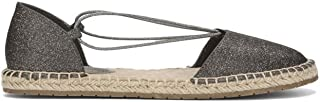 Women's How Laser Flat Espadrille with Elastic Straps Wedge Sandal