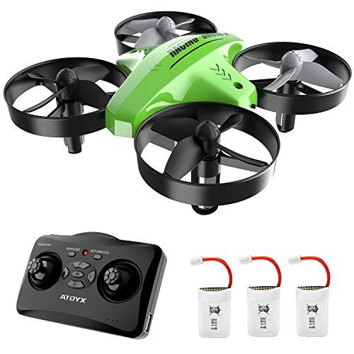 Mini Drone,Drone per Bambini,Funzione Hovering,Modalità Senza Testa,Rotazione a 360°,Decollo Atterraggio a Un Tasto, velocità Regolabile,Protezioni a 360°,Adatto a bambini e principianti