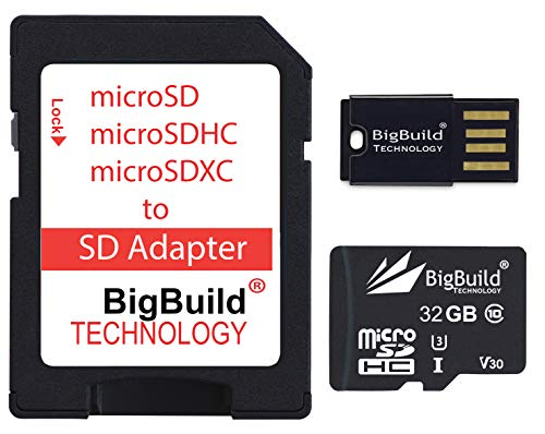 BigBuild Technology 32GB Ultra Fast 100MB/s U3 microSDHC Memory Card For Lenovo Smart Tab M10 Tablet