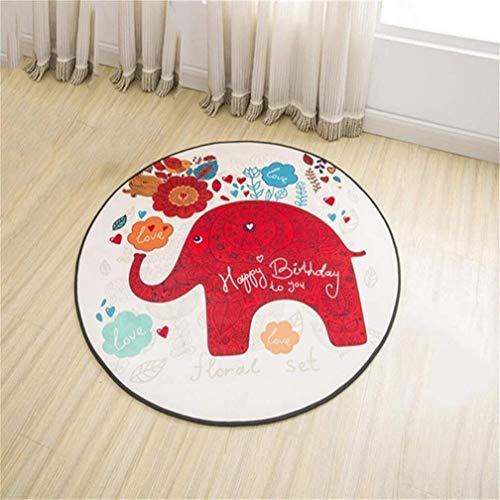 HJXSXHZ366 Yoga Mat Redondas Alfombras, for niños de Dibujos Animados patrón de Habitaciones heces Silla de la computadora de Noche de la Manera Simple del cojín del pie (Size : 80cm)