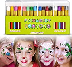 Face Paint Crayon Face Painting Kit for Kids,16 Color Easter Face and Body Crayons Washable Face Paint Halloween Cosplay Festival Makeup Body Paint for Toddler, Children, Adult,Teen
