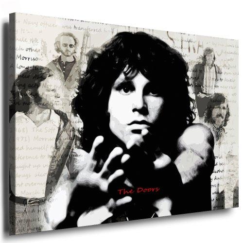 Stampa artistica The Doors – Jim Morrison, 100 x 70 cm, pronta su telaio / tela