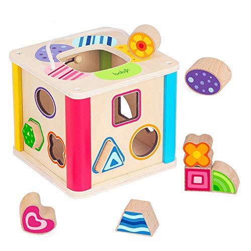 CaoQuanBaiHuoDian Kinder Bausteine  Lernspielzeug Educational Holz Aktivität Würfel Mit Baby-Form-Classifier Baby-Wanderer 3 Jahre Alten Mädchen und Jungen-Kind-Geschenk-Spielwaren Lernspielzeug