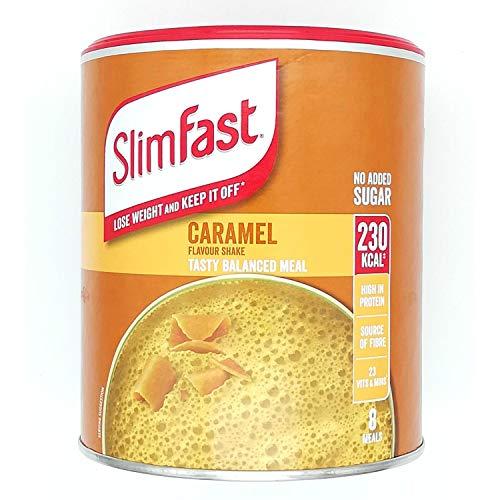 Slimfast Caramel 292 g, Maaltijdshake met karamelsmaak, Kan u helpen af te vallen en af te houden, U kunt in seconden opschudden
