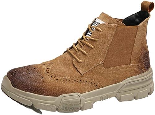 nihiug Martin Stiefel Oxford Schuhe Adult Stiefel Desert Stiefel Klassisches Leder Leder Geschnitzt Brock Chelsea Herren Stiefel