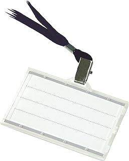 Identyfikator DONAU z Jedwabną Taśmą Twardy Czarny/Prezentacja/Typ-z Taśmą/Materiał-Plastik/Kolor-Czarny/Rozmiar-85x50mm
