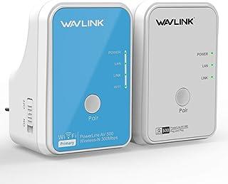 WAVLINK AV500 Powerlan Adapter Ethernet Powerline con kit WLAN