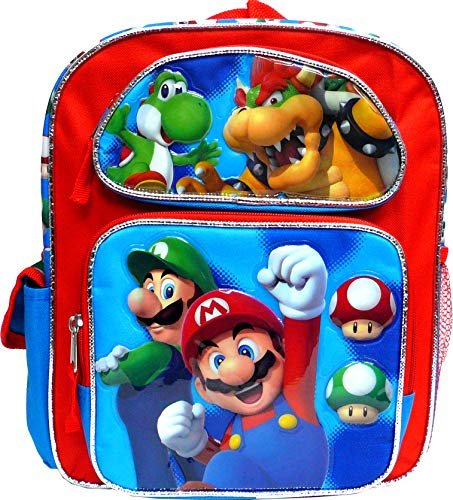 Super Mario 12' Toddler School Backpack Boy's Book Bag