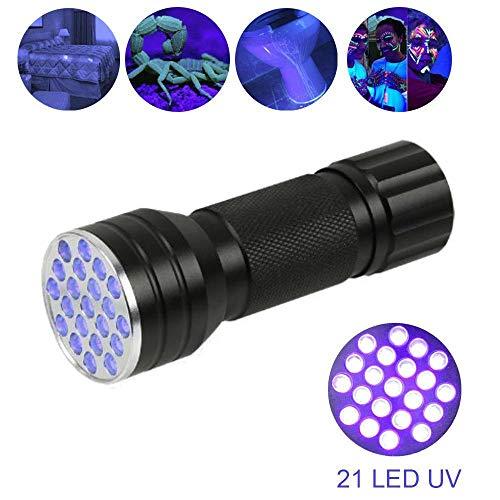 Zeerkeer UV-zaklamp met 21 LED-lampen, dier voor het huis, Macchia, urinaRivelator, ultraviolett, 395nm LED-licht voor honden, katten, vlekken, sieraden