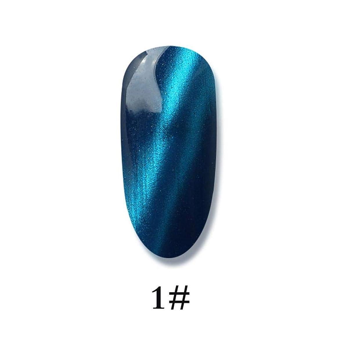 スリラー別れるレールネイルポリッシュ - ネイル光線療法用ゲル 3Dキャットアイジェルメイクアップネイルポリッシュグルー