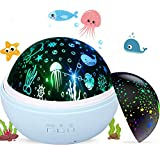 Baby Night Light Projecter, Star Moon and Ocean Wave Projector Rotating Lamp, Best