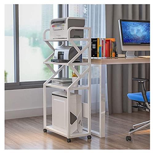 WBJLG Soporte de Impresora Soporte de Impresora de pie Estante de Impresora móvil de Varias Capas, para la Sala de Estar de la Oficina Máquina de fax Soporte de escáner Estante de Almacenamiento d