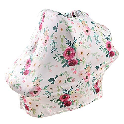 DERCLIVE Cubierta de asiento de coche de bebé cubierta de enfermería elástica cubierta de lactancia infantil cubierta de asiento de coche cubierta de cochecito
