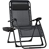 Patio Chair Zero Gravity Chair Lawn Chair Oversized Outdoor Chair XL Oversized Zero Gravity Chair Anti Gravity Chair Patio Chair for Pool Deck Chair Camping with Cup Holder