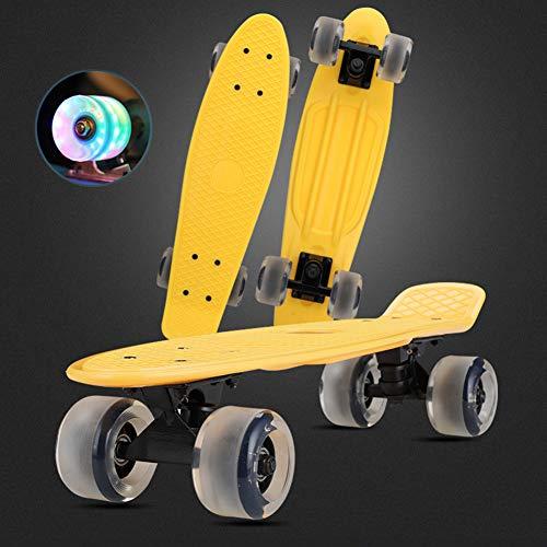 DUANYU Penny Board, 22 Pulgadas 10 Años Skateboard Adulto para Niños, Monopatín...
