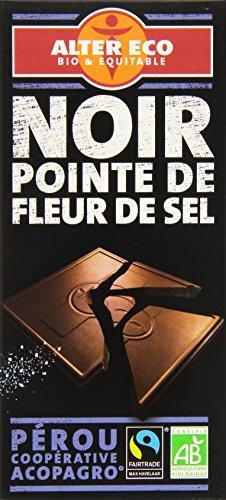 Alter Eco Tablette de Chocolat Noir Fleur de Sel Bio et Equitable 100 g