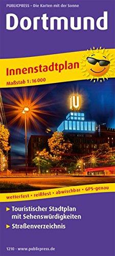 Dortmund: Touristischer Innenstadtplan mit Sehenswürdigkeiten und Straßenverzeichnis. 1:16000 (Stadtplan: SP)