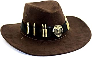 McCree Hats Brown Cosplay Badge Cowboy Hat Caps