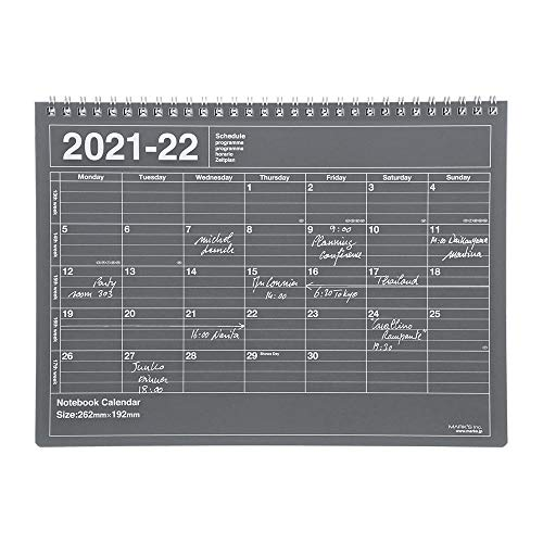 マークス 手帳 2021 スケジュール帳 ダイアリー マンスリー 2021年4月始まり B5変型 ノートブックカレンダー・M ブラック 21SDR-NB1-BK