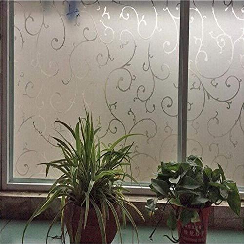 LMKJ Diseño de Vid, película de Vidrio translúcido, unión estática, decoración del hogar sin Pegamento, película de protección del hogar a Prueba de Humedad y UV A179 50x200cm