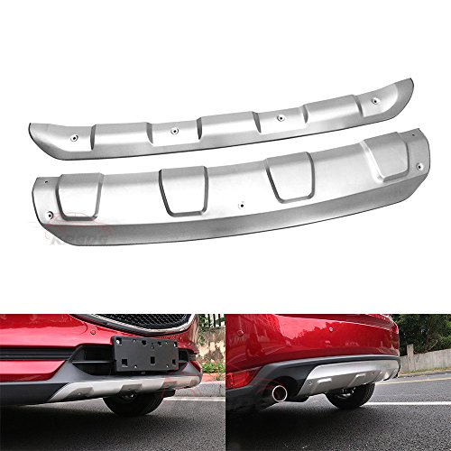 KPGDG Fits for All New Mazda CX5 CX-5 2017 2018 2019 2020 Stainless Steel Front Rear Bumper Board Skid Plate Bar Guard