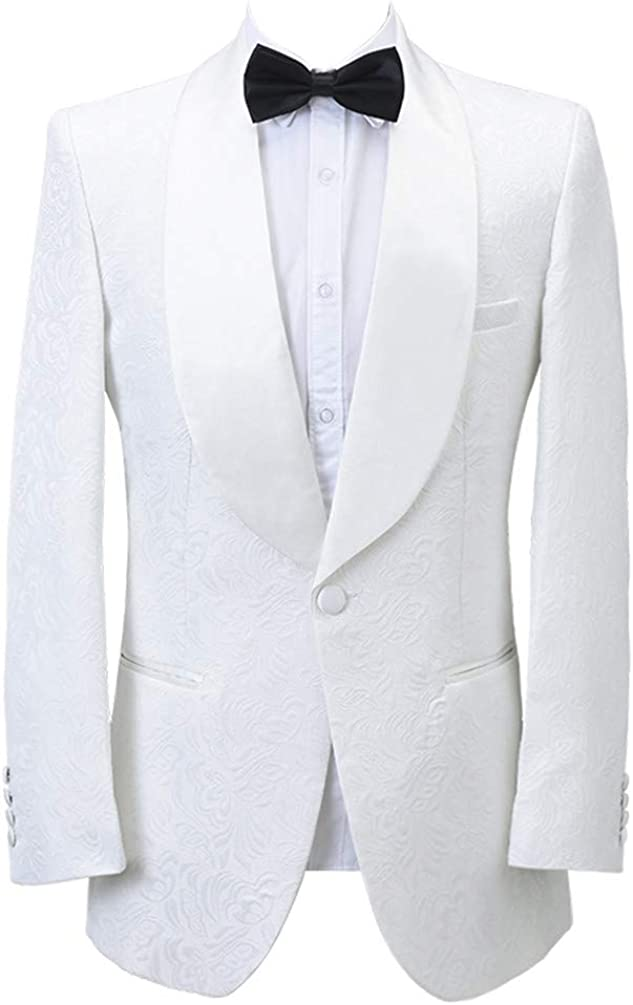 Jacquard Paisley Floral Pattern Premium Slim Fit Fashion Tuxedo Prom Wedding Groom Party Suits Blazers Jacket Coat