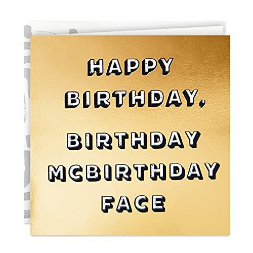Hallmark Good Mail Funny Birthday Card (Birthday McBirthday Face) (499RZR1050)