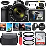 Nikon COOLPIX P950 Digital Camera    24-2000mmLens    16 MP    Built-in Wi-Fi    Vibration Reduction + Camera Kit Special Including 64GB Memory, Spider Tripod, Photo/Video Editing Package & More