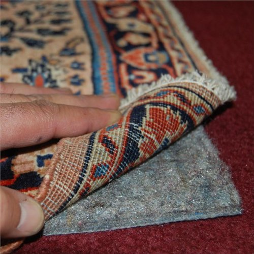 6'x9' No-Muv Non Slip Rug on Carpet Pad - Includes Rug and Pad Care Guide