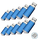RAOYI 10Pack 32GB USB Flash Drive USB2.0 Memory Stick Memory Drive Pen Drive Jump Drive,Blue