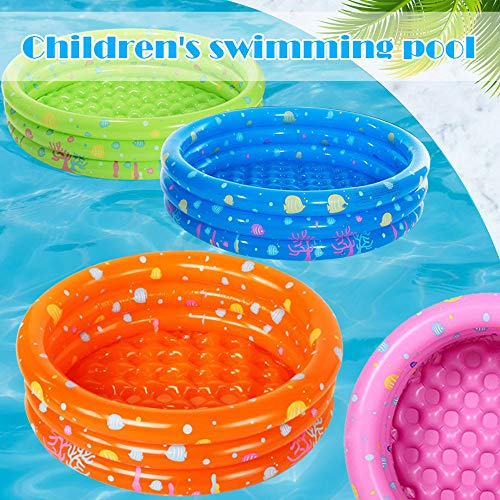 Novania Inflatable Swimming Pool Round Summer Water Play Party Kiddie Blow Up Pool for Adults Children Boys Girls Swim Center Family Lounge Outdoor Water Park for Garden Backyard Orange