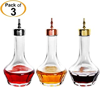 Bitters Bottle - Lead free Glass with Stainless Steel Dasher Top 50ml Professional Bar Tool for Making Craft Cocktails and the Perfect Whiskey DSBT0001 (3pcs)