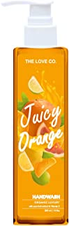 THE LOVE CO. Juicy Orange Anti Bacterial Natural Hand Wash with Tulsi, Neem Extracts - 200ml