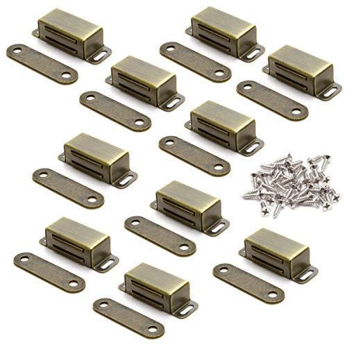 10 Stück Magnetschnäpper Magnetverschluss Magnetschloss Türmagnet Möblmagnet Magnet Schranktuer Türschliesser Balkontürschnapper Haltekraft 8kg