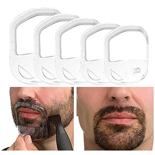 Beard Shaper Goatee Mustache Grooming Tool Face Hair Styling Template...