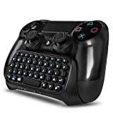 PS4 Wireless Mini Bluetooth Keyboard - Keypad Gamepad Joystick Text Messager Chatpad Adapter for Sony Playstation 4 PS4...