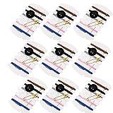 100 juegos de kits de costura de viaje, kit de reparación de roscas con agujas, hilos, botón, pin para necesidades de servicio de hotel, 6 colores diferentes