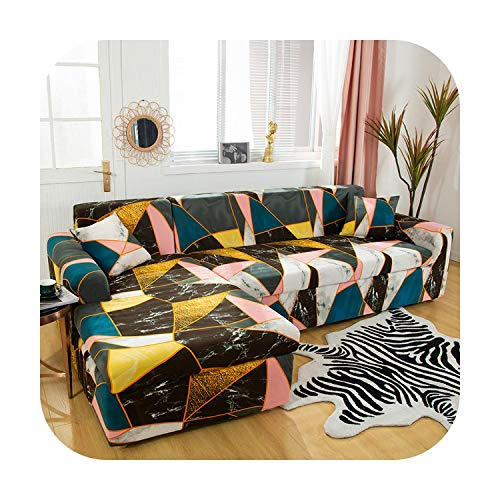 Funda de sofá (2 piezas chaselong L forma spandex para sala de estar material elástico esquina sofá silla cubierta sofá sofá seccional color 6-1 plazas y 4 plazas