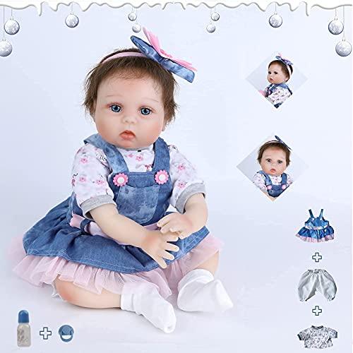 ZIYIUI 22 Pollici 55 Centimetri Bambole Reborn in Silicone Morbido Realistica Bambola Che Sembra Bimba Vera Sveglia della Ragazza del Ragazzo Bambini Giocattolo