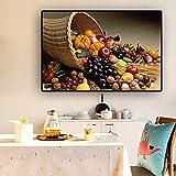 SADHAF Frutas y verduras carteles e impresiones cocina lienzo pintura estilo escandinavo decoración del hogar A6 70X100cm