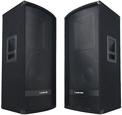 Sound Town 2 Pack 15 700W 2 Way Full Range Passive DJ PA Pro Audio Speaker with Compression product image