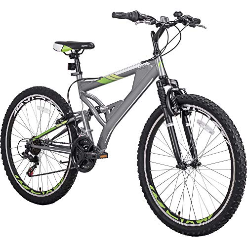 Openuye 26 Inch Mountain Bike with Full Suspension 21-Speed Aluminum Frame Bicycle