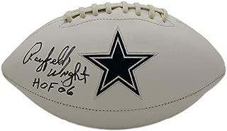 Rayfield Wright Signed Ball - Logo HOF BAS 21714 - Beckett Authentication - Autographed Footballs